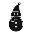 snowman icon simple style vector image vector image