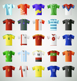 Soccer jersey t shirt set vector image vector image