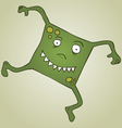 Square monster vector image vector image
