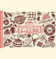 sweet food set vector image vector image