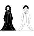 two ghost vector image