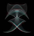 warped parametric surface shape vector image vector image