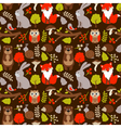 Woodland animals seamless pattern vector image vector image