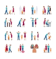 Family Problems Icons vector image