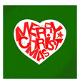 merry christmas typography card design vector image