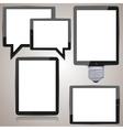 computer tablet set on brown background eps10 vector image