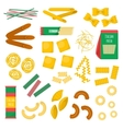 Pasta products vector image
