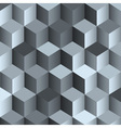 3d monochrome background with cubes vector image vector image