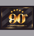 90 years anniversary celebration logotype 90th vector image vector image