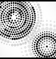 abstract background with dotted circles vector image vector image