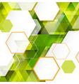 abstract modern hexagon geometric template vector image vector image