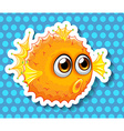 Balloon fish vector image vector image