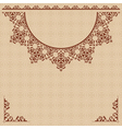 beige background with vintage ornament vector image
