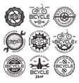 bicycle shop emblems badges and labels vector image