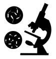 black microscope vector image vector image