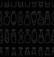 bottles grey seamless paths pattern vector image