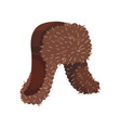 brown hat with earflaps on vector image vector image