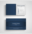 business card with blue pattern design vector image vector image