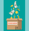 cardboard box and money vector image