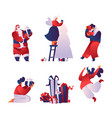 christmas celebration flat vector image vector image