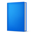 classic blue book in front vertical view isolated vector image vector image