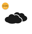 clouds icon isolated flat style vector image vector image