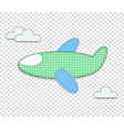 cute baby clip art airplane for scrapbook or baby vector image