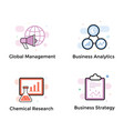 data analytics icons bundle vector image vector image