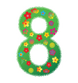 floral number 8 vector image vector image