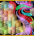 geometric abstract colorful 3d seamless vector image
