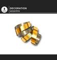 golden serpentine decorative design element vector image vector image