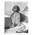 Great Sphinx vintage engraving vector image
