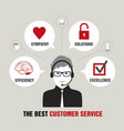handsome customer service vector image vector image