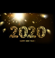 happy new year card with a black background and vector image vector image