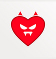 heart symbol of love and valentine s day flat vector image vector image