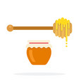 honey spoon flat material design isolated object vector image vector image