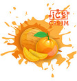 ice cream orange ball fruit dessert choose your vector image vector image