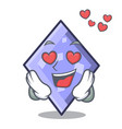 in love rhombus mascot cartoon style vector image vector image