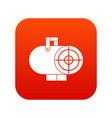 industrial fan heater icon digital red vector image vector image