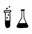 laboratory flasks vector image