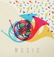 Music concept horn orchestra band color design vector image vector image