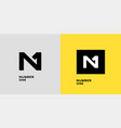 n 1 logo vector image vector image