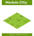 natural isometric landscape vector image vector image