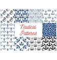 Nautical anchor patterns vector image vector image