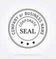 official corporate seal vector image vector image
