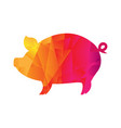 origami boar isolated vector image vector image