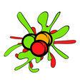 paintball balls icon cartoon vector image vector image