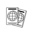 passport identification vacation travel icon vector image