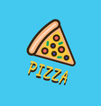 pizza logotype template vector image vector image