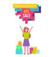 premium quality hot sale on vector image